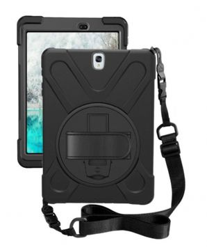 Rugged case  Samsung Tab S3 9.7 T820 T825 hand & shoulder strap, kick stand and screen protec
